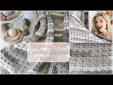 Beginner Shell Crochet Blanket Tutorial