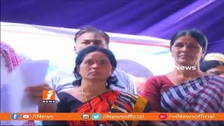 TRS MLA Jalagam Venkat Rao Distribute Rythu Bandhu Cheques In Palvancha | iNews - INEWS