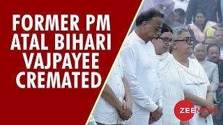 Former PM Atal Bihari Vajpayee cremated with full state honours at Smriti Sthal - ZEENEWS