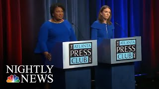 Georgia Dems Choosing Between Two Female Gubernatorial Candidates Named Stacey | NBC Nightly News - NBCNEWS