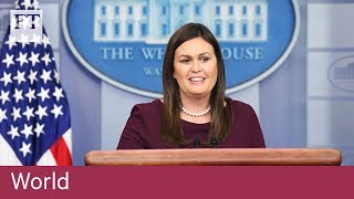 White House defends Trump over possible racial slur recording - FINANCIALTIMESVIDEOS
