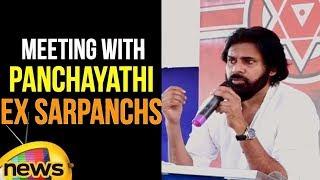Pawan Kalyan JanaSenani Meeting with Panchayathi Ex Sarpanchs at Polavaram | Janasena Porata Yatra - MANGONEWS
