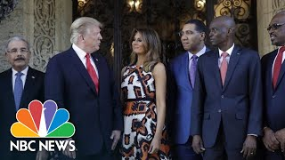 Trump Meets With Caribbean Leaders At Mar-A-Lago | NBC News - NBCNEWS