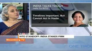 In Business- WTO Standoff: India Stands Firm - BLOOMBERGUTV