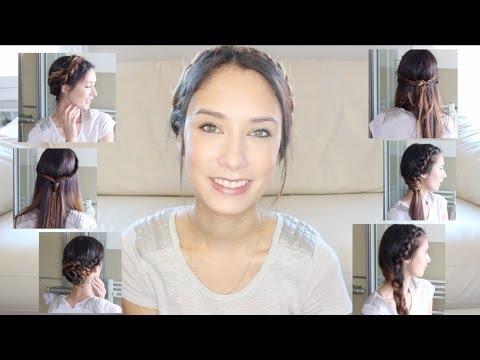 6 Peinados faciles y rápidos para el dia a dia! ♥♥♥