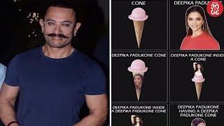 Aamir Khan Sports A New Look   Deepika Padukone Laughs Out At Her Viral Meme - ZOOMDEKHO