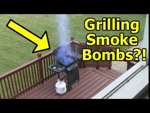 Funny Pranks : GRILL FIRE Prank cloned
