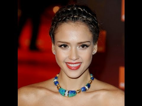 Jessica Alba's Braided Up Do