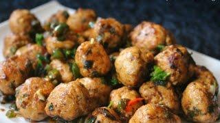 Chicken Meatball Manchurian Recipe in Tamil
