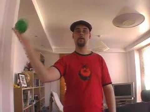バタフライ シングルボールコンタクトジャグリング