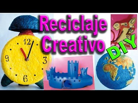 Manualidades - Reciclaje - Creatividad utilizando Material de Desecho