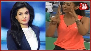 Anjana Om Kashyap With Yoga Guru Vandana Agarwal At Rajpath | AajTak Special Coverage - AAJTAKTV