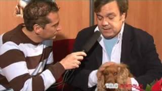 Didier BOURDON et son cocker Bambou au micro de Bruno SORIANO