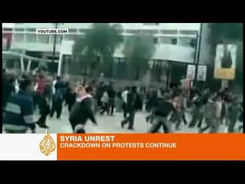 Crackdown on Syrian protests continues