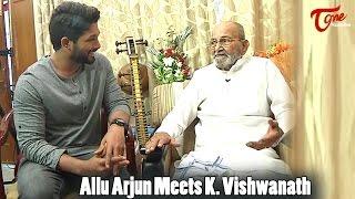 Allu Arjun Meets K Vishwanath || Dada Saheb Phalke Award - TELUGUONE