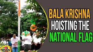 Bala Krishna Hoisting The National Flag at Basavatarakam Cancer Institute | 72 Independence Day - MANGONEWS