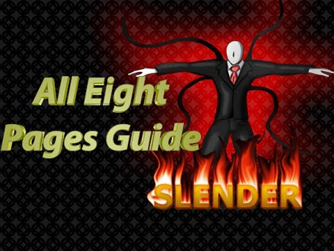How To Beat Slender - All 8 Pages Walkthrough - 8/8 Collected