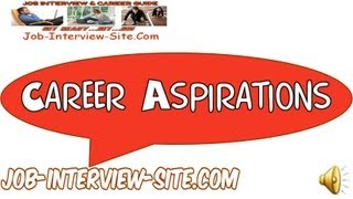 professional aspirations examples
