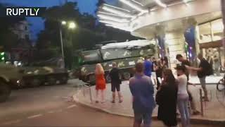 RAW: Moment Buk missile launcher slams into building in Kiev - RUSSIATODAY