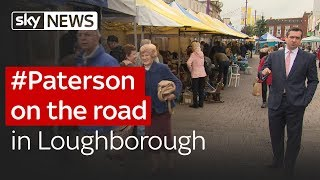 #Paterson on the road in Loughborough - SKYNEWS