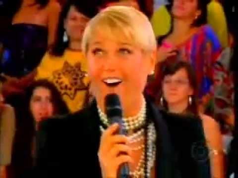 Sasha Meneghel nos bastidores do programa da TV Xuxa 2009