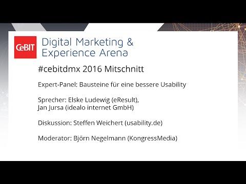"""#cebitdmx: Expert-Panel """"Bausteine für eine bessere Usability"""""""