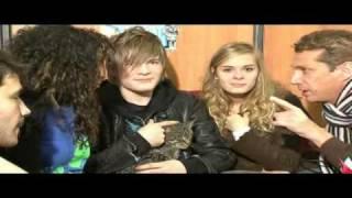 Les 4 finalistes de la STAR AC 2008 sont interviewés au Noël des animaux.