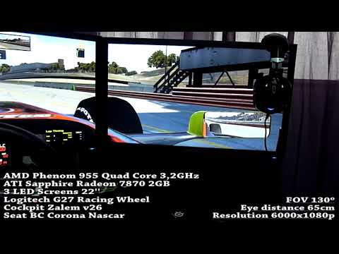 Actually Sim Racing Cockpit with 3 Screens Mount by Total Spanish Simulator
