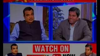 Nitin Gadkari Excluisve Interview on Basic Income Scheme by Rahul Gandhi, Lok Sabha Elections 2019 - NEWSXLIVE