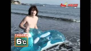 気温6℃の海水浴を満喫する常夏☆ボーイ