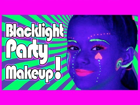 Blacklight UV Makeup Tutorial for Glow Parties!  |  KittiesMama