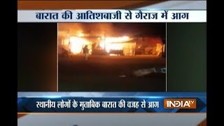 Major fire at a garage in Allahabad - INDIATV