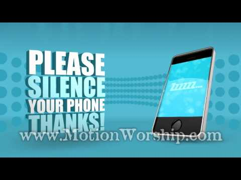 Please Silence Cell Phones 3 HD Looping Background