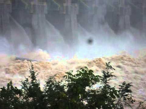 Enchente na  barragem foz do chapecó, Águas de chapecó 26/06/2014