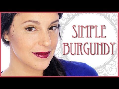 Simple burgundy makeup tutorial | Silvia Quiros