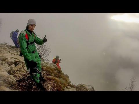 BASE jumping. облако Brento