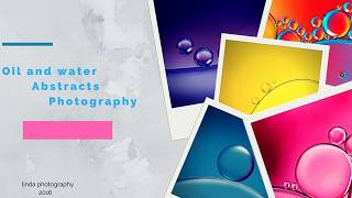 Artista crea estas fotografías usando sólo agua y aceite