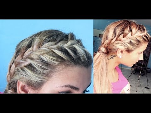 Penteado trança embutida lateral MARAVILHOSO ! Recessed side braid WONDERFUL