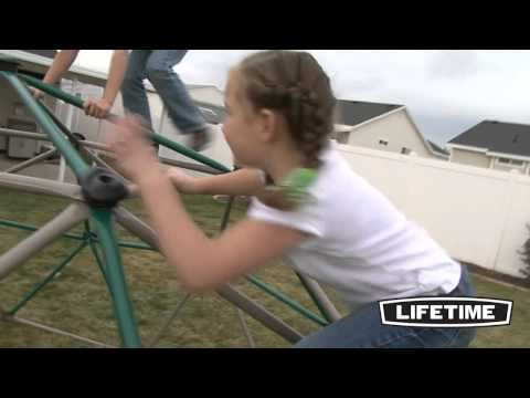 Kids Metal Dome Climber (Green and Tan)