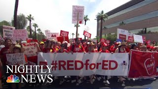 Thousands Of Arizona Teachers Protest For Better Education Funding | NBC Nightly News - NBCNEWS