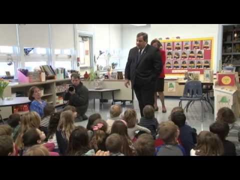 Governor Christie Takes Questions From Stone Harbor's Kindergarten Class
