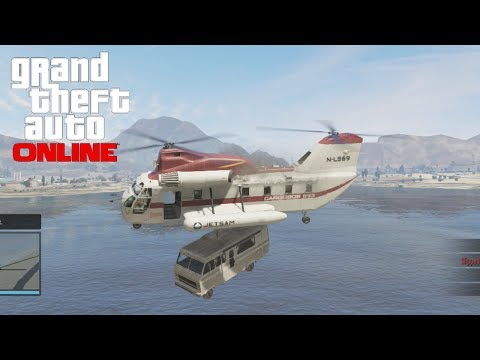 GTA 5 : How To Get The Red Cargobob Online Tutorial