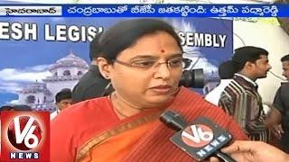 MLA Padmavathi Reddy demands NDA to continue Rajiv Gandhi name for airport - Hyderabad - V6NEWSTELUGU