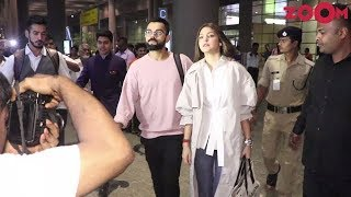 Anushka Sharma & Virat Kohli spotted at the Mumbai airport - ZOOMDEKHO