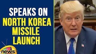 President Trump Speaks On North Korea Missile Launch And Tax Plan Meeting | Mango News - MANGONEWS