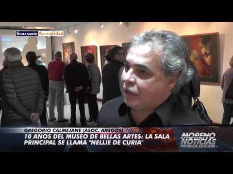 10 años del Museo de Bellas Artes: La sala principal se llama Nellie de Curia