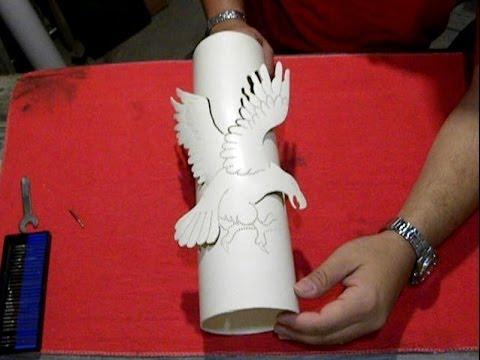 Luminária de PVC Término da Águia.