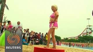 An exclusively over-55 bikini contest in China - REUTERSVIDEO