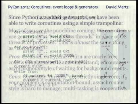 Coroutines, event loops, and the history of Python generators