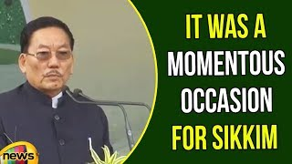 Sikkim CM Pawan Kumar Chamling Says It was a Momentous Occasion for Sikkim | Pakyong Airport - MANGONEWS
